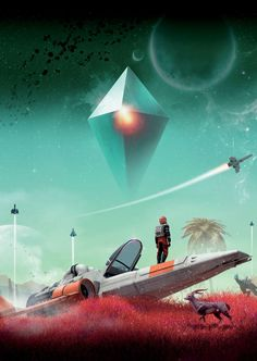 No man's sky wallpaper Arte Sci Fi, Sci Fi Art, Space Fantasy, Sci Fi Fantasy, Spaceship Art, Futuristic City, Fantasy Places, Sky Art, Science Fiction Art