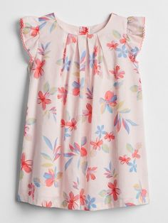 GAP Baby Girl Size 0-3 Months Americana Red White Blue Floral Daisy Dress