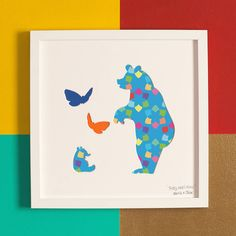 'Teddy Bears Picnic' Children's Gift Artwork by Bertie & Jack, the perfect gift for Explore more unique gifts in our curated marketplace. Picnic Decorations, Cut Out Art, Childrens Gifts, All Art, Art For Kids, Unique Gifts, Things To Come, Teddy Bears, Frame
