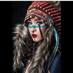 Scout 2 by Dave Kelley on Native American Face Paint, Native American Beauty, Native American Indians, Red Indian, Native Indian, Indian Girls, Appropriation Culturelle, Native Girls, War Bonnet