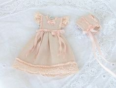 Dress baby pale pink with hat