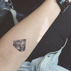 diamond tattoo idea #ink #youqueen #girly #tattoos #diamond @youqueen
