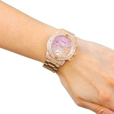 Guess Women Rose Gold confetti  Watch