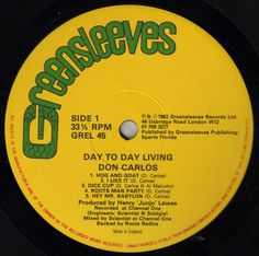 Don Carlos - Day To Day Living (Label)