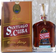 Ron santiago Extra Añejo 490 Anniversary 25 Years. The soul of Cuba, the world's best light rum.