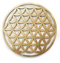 For Sale on - Blume des Lebens ( Flower Of Life ) Hand-Carved Wood Gilded by Udo Haderlein, Gold Leaf, Wood by Udo Haderlein. Offered by Art Acrylic Paint On Wood, Painting On Wood, Abstract Sculpture, Sculpture Art, Artwork Display, Flower Of Life, Carat Gold, Sacred Geometry, Hand Carved