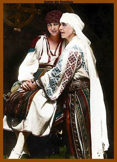 Queen Marie of Romania and her daughter princess Ileana Romanian Royal Family, Romanian Girls, History Of Romania, Foto Art, Queen Mary, Now And Forever, Folk Costume, Anna, Queen Victoria