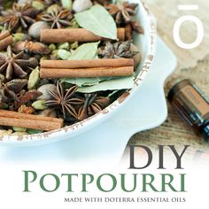 """DIY: Essential Potpourri: """"Potpourri is an easy way to bring the essence of fall into your home. Learn how you can make your own potpourri with dōTERRA essential oils. Doterra Blog, Doterra Recipes, Doterra Essential Oils, Doterra Products, Wellness Products, Therapeutic Grade Essential Oils, Essential Oil Uses, Homemade Potpourri, Smell Good"""