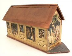 antique noah's ark | Antique German NOAHS ARK Wooden Folk Art Toy