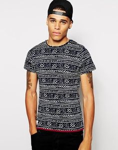 Enlarge Native Youth All Over Pattern Print T-Shirt