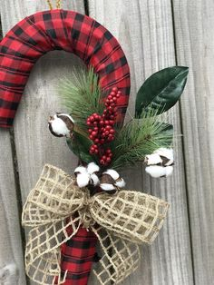 This item is unavailable Diy Christmas Fireplace, Christmas Lanterns, Christmas Centerpieces, Diy Christmas Ornaments, Christmas Projects, Christmas Ideas, Candy Cane Wreath, Candy Canes, Navidad Diy