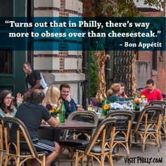"""""""Turns out that in Philly, there's way more to obsess over than the cheesesteak."""" -Bon Appetit #HOFlovesPhilly #HOFKingofPrussia"""