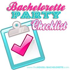 FREE Bachelorette Party Checklist