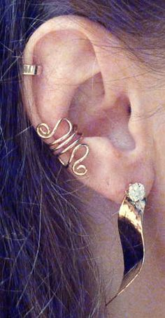 ear cuffs. I want some of these since I can't wear earrings!