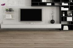 BuildDirect – Porcelain Tile - Aztec Series – Grey - Living Room View