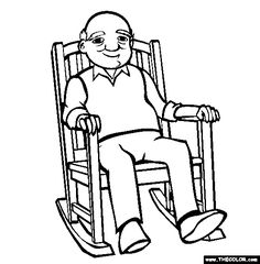 rocking chair coloring page free rocking chair online coloring