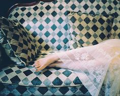 120729 (5) by 【miao】, via Flickr #feet #couch #lace #pale