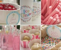 Ice Cream Party - not digging this particular set-up, but cute idea for a party.