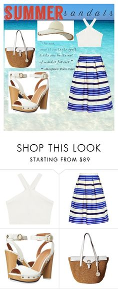 """""""Let the sea set you free"""" by medina-skrebo ❤ liked on Polyvore featuring BCBGMAXAZRIA, Paul & Joe Sister, Tommy Hilfiger, MICHAEL Michael Kors, Keds and summersandals"""