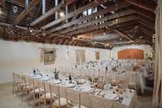 Rustic barn wedding at Aswanley. Image by Donna Murray. Corporate Entertainment, Barn Renovation, Rustic Wedding Inspiration, Rustic Barn, Barns, Table Settings, Cottage, Entertaining, Table Decorations
