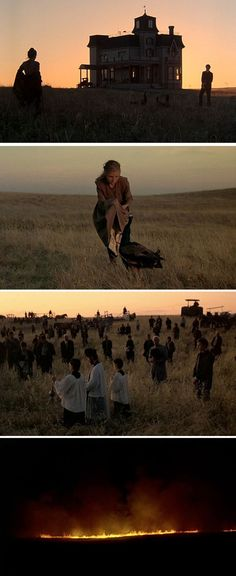 Silhouette - Days of Heaven / Stills / Film directed by Terrence Malick Storyboard, Elle Woods, Movie Screenshots, Movie Shots, Cinematic Photography, Film Studies, Film Inspiration, Film School, Indie Movies