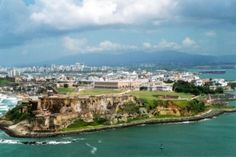 Aerial view of Fort San Felipe del Morro and Old San Juan. Old San Juan is the oldest settlement within Puerto Rico. Vacation Places, Dream Vacations, Vacation Spots, Porto Rico, Santa Lucia, Barbados, Beautiful Islands, Beautiful Places, Oh The Places You'll Go