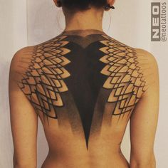 beautiful woman shoulder / upper back Tattoo