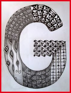 Tekenpraktijk De Innerlijke Wereld: ABC - Tangled Alphabet G: Tangle - Cool beans, Ticking, Allium, Hypnotic, Capell, Cadent