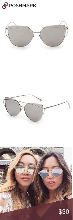 🆕 Silver Metal Mirrored Sunglasses Brand new. Dark silver metal frames. Mirrored lens. Gorgeous and on trend. No trades! Uppity Minx  Accessories Sunglasses