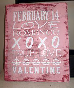 Valentines subway art vinyl.