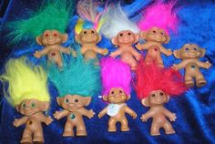 Troll Dolls - my son absolutely adored these as a child.  Called them 'buddies'.