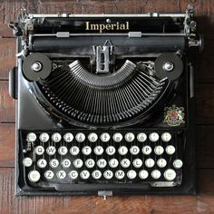 "Delightful English Imperial typewriter, ""The Good Companion"" in excellent condition.  With carry case.  c.1930s"