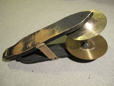 very old, early sock cymbal device (the Snowshoe)
