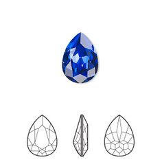 Embellishment, Swarovski crystal rhinestone, majestic blue, foil back, faceted pear fancy stone Sold per pkg of Crystal Illustration, Jewelry Illustration, Crystal Rhinestone, Swarovski Crystals, Gem Drawing, Gem Tattoo, Crystal Drawing, Jewelry Design Drawing, Jewellery Sketches