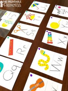 Easy activities you can make using alphabet posters from the Target Dollar Spot!