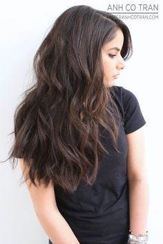 SEXY VOLUMINOUS HAIR. Cut/Style: Anh Co Tran • IG: @anhcotran • Appointment inquiries please call Ramirez|Tran Salon in Beverly Hills at 310.724.8167.