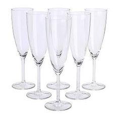 IKEA - SVALKA, Champagneglass, Glasset har en høy, slank form som holder lenger liv i boblene.