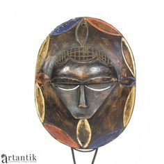 Mască ceremonială Ekpo Nyoho |  triburile Eket  | Nigeria | Ceremonial Ekpo Nyoho mask | Eket tribe | Nigeria | post 1950 | #ArtAntik #african #ceremonial #tribal  #mask African Jewelry, Tribal Jewelry, African Sculptures, Exotic Art, African Masks, Tribal Art, Asian Art, Art Nouveau, Contemporary Art