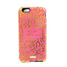 iPhone 5 or 6 Case - Gold Shimmer Clara