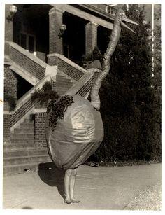 "A ""Big Bird"" - Vernacular Photograph in Costume, via Flickr."