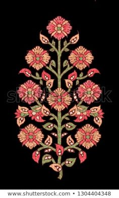 Find Mughal Flower Motif Black Ground stock images in HD and millions of other royalty-free stock photos, illustrations and vectors in the Shutterstock collection. Hand Embroidery Patterns Flowers, Embroidery Motifs, Flower Patterns, Machine Embroidery, Embroidery Designs, Embroidery On Kurtis, Hand Embroidery Dress, Motifs Textiles, Textile Prints