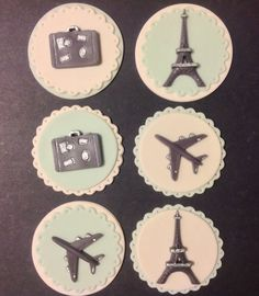 Travel cupcakes toppers chocolate dipped Oreo by LuluCupcakecom, $22.60