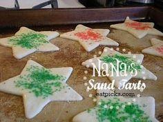How to Make NaNa's Sand Tarts Cookie {Recipe} Tart Recipes, Beef Recipes, Baking Recipes, Cookie Recipes, Dessert Recipes, Yummy Cookies, Cake Cookies, Sand Tarts, Beef Meals