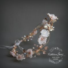 Elaine rose gold blush pink headband - wreath floral crown circlet - bridal hair accessories - wedding by KathleenBarryJewelry on Etsy https://www.etsy.com/listing/385793608/elaine-rose-gold-blush-pink-headband