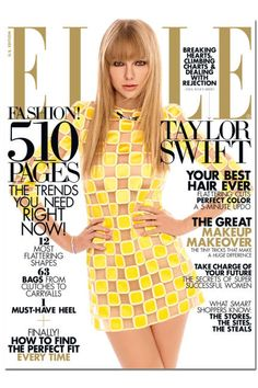 Simply mod - Taylor Swift in yellow covers ELLE March