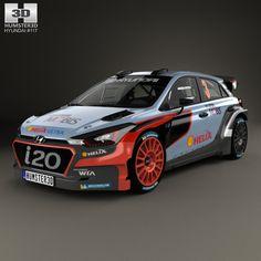Hyundai i20 WRC 2016 3d model from Humster3D.com.