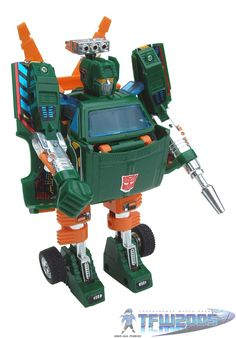 "Hoist, one of the first-generation (or ""G1"") Autobots from the Transformers line of toys in the 1980s"