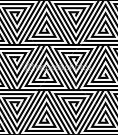 Black and White Geometric Patterns | Triangles, Black and White Abstract Seamless Geometric Pattern, Vector ...