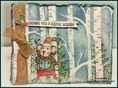 The Serene Stamper: Sneak Peek: Merry Mice Woodland Card