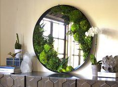 Custom Wall Art, Nature Room, Moss Decor, Wall Stickers Home, Mirror Frames, Large Wall Art, Eco Friendly House, Moss Wall Art, Living Decor